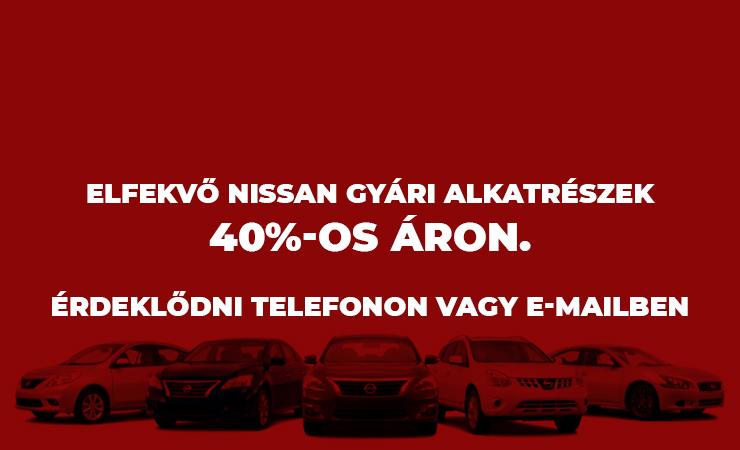 Nissan gyári alkatrész akció